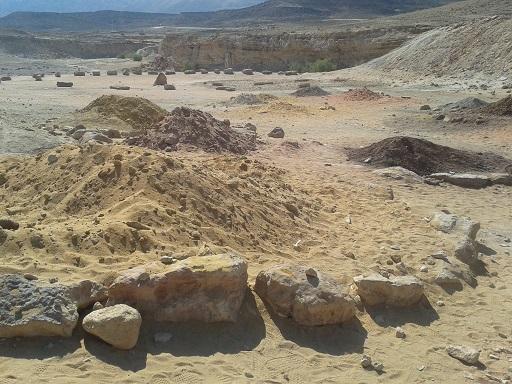 חולות צבעוניים מצפה רמון אדמה רוח מים